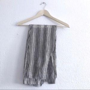 Brandy Melville Tilden Cream Black Stripe Pants
